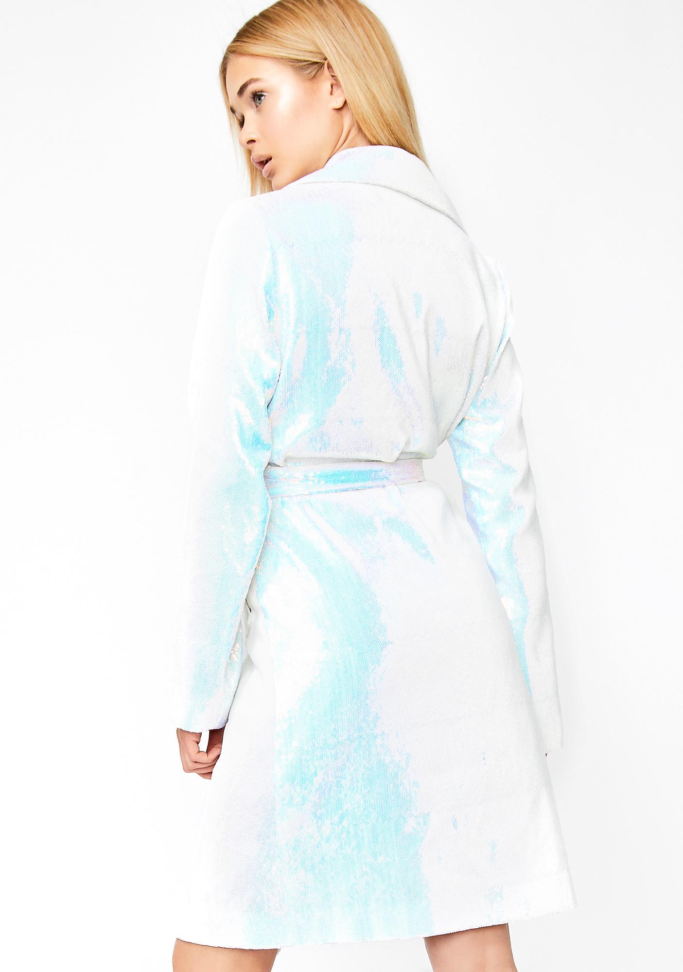 HOROSCOPEZ Crystal Dimension Trench Coat