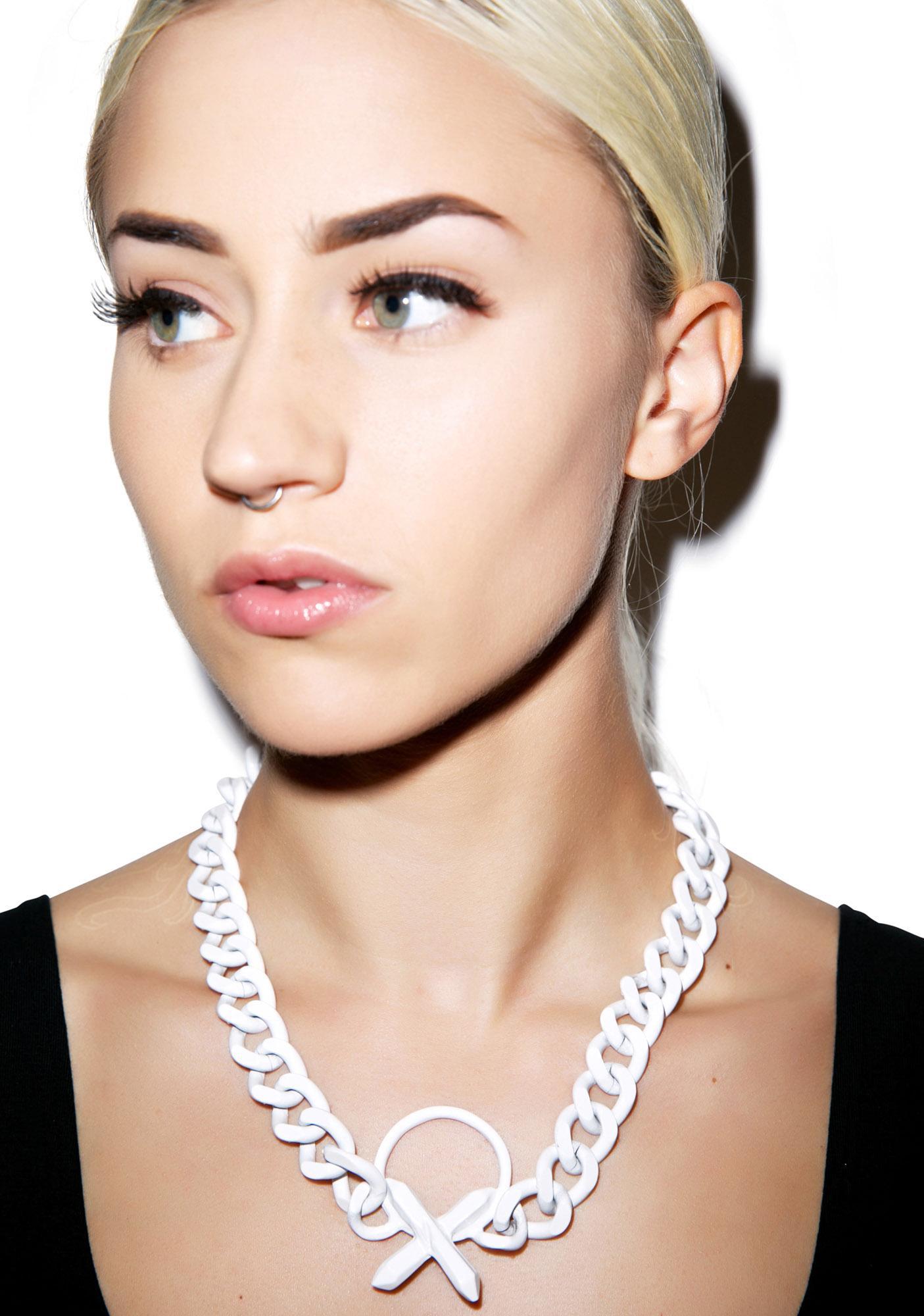 Luv AJ Crystal Cross Necklace