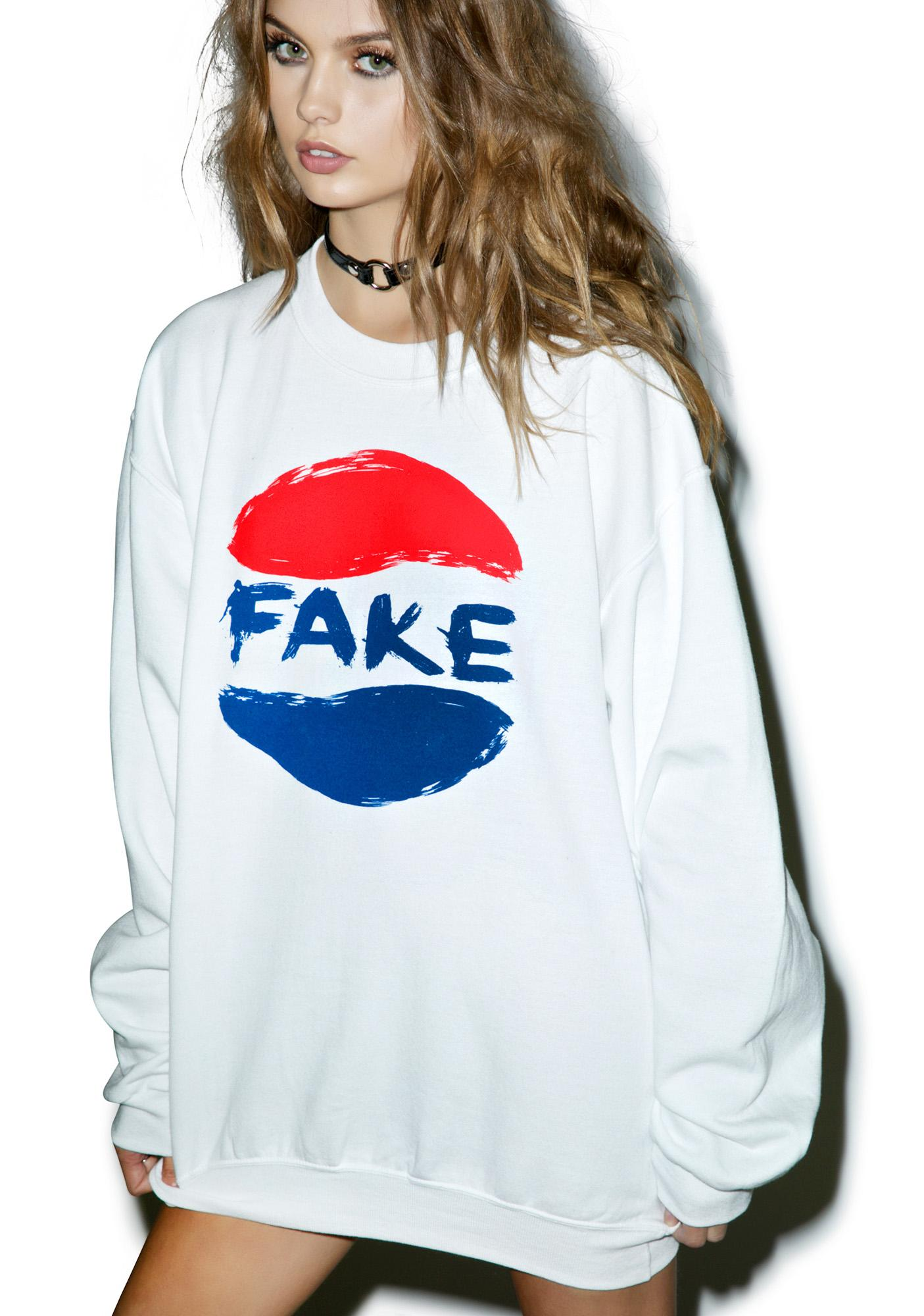 Petals and Peacocks Fake Soda Sweatshirt