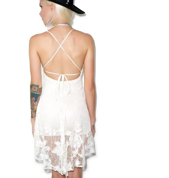 Lip Service Bad Moon Rising Crochet Dress