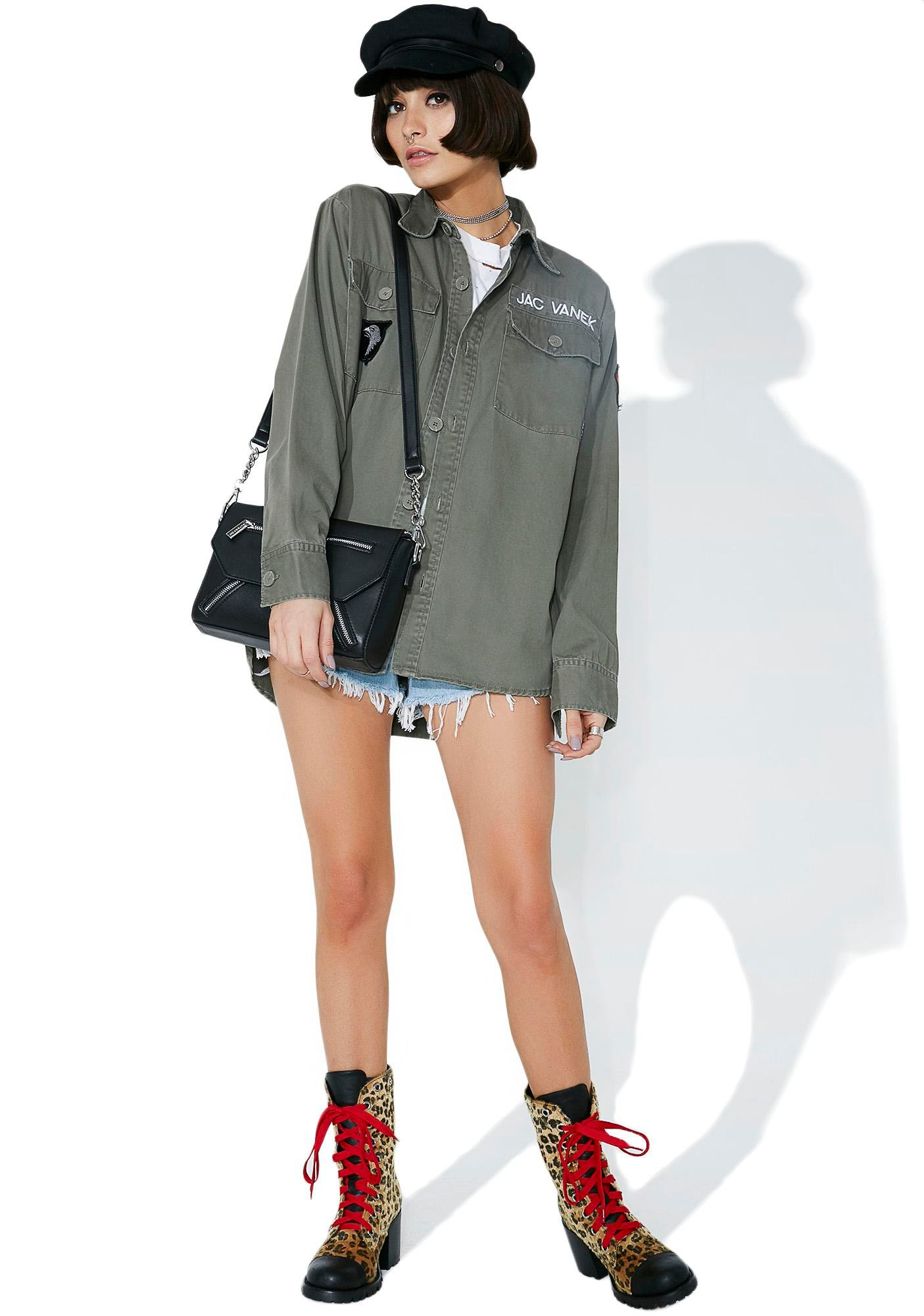 Jac Vanek Ray Of Sunshine Army Jacket