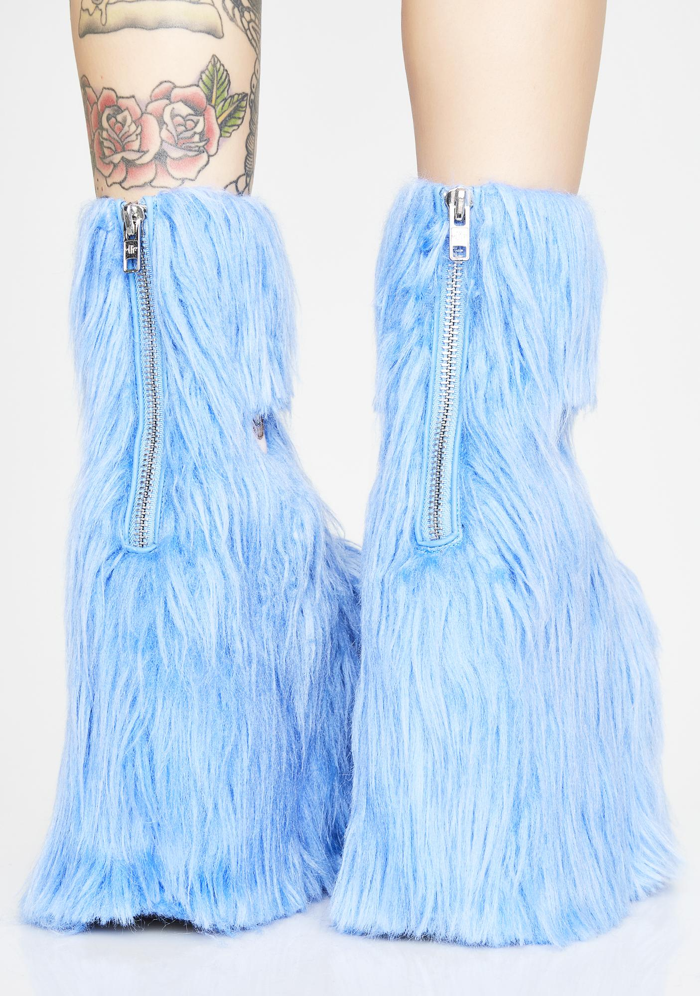Current Mood Kooky Monster Fuzzy Platforms