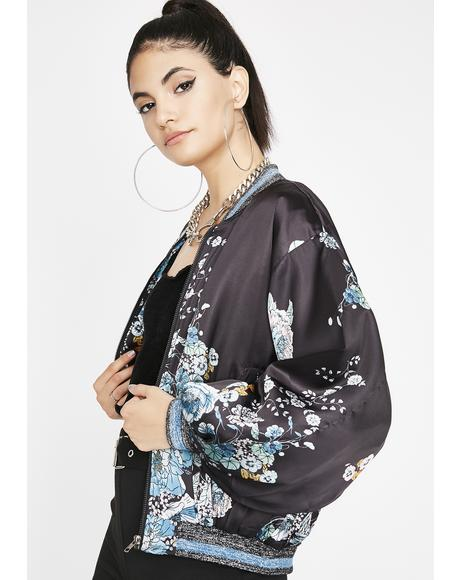 Spill The Tea Bomber Jacket