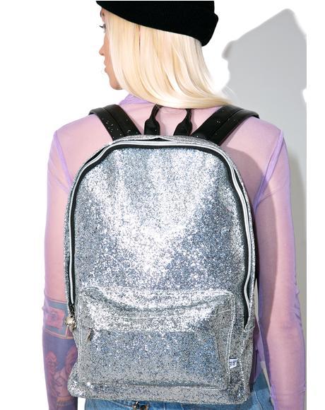 Silver Glitter Backpack