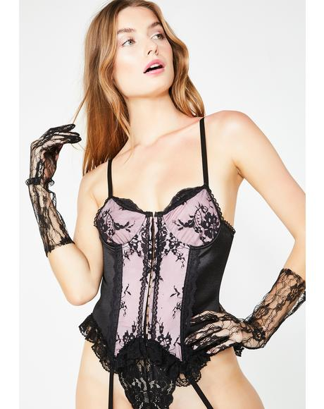 Sinful Serenade Lace Bustier