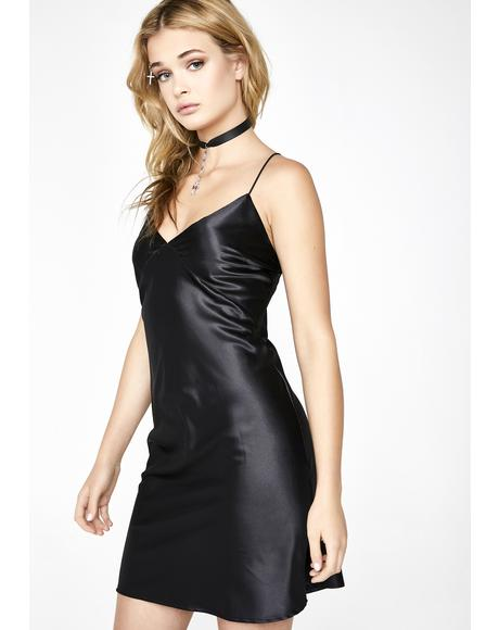 Stay The Nite Satin Dress