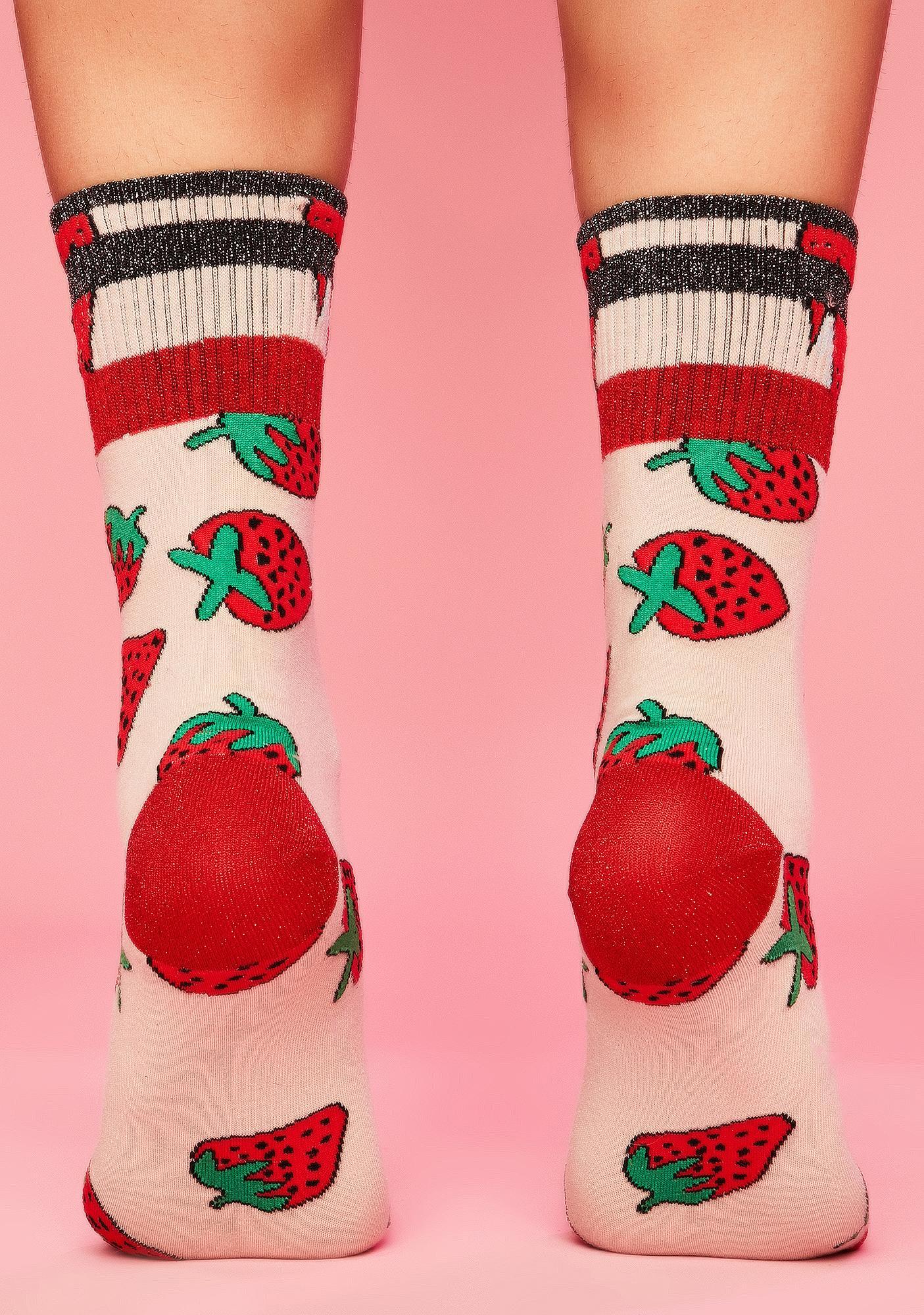 Strawberry Fields Crew Socks