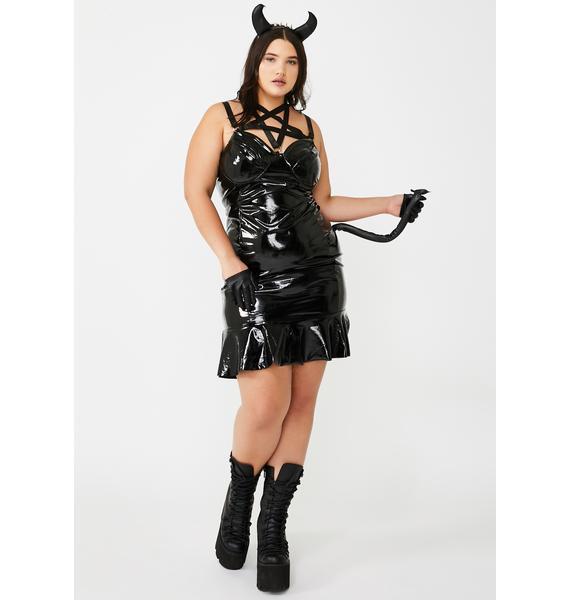 Miss Hard Rock Devils Costume Set