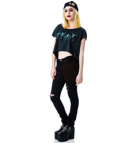 Skeleton Boogie Crop Tee