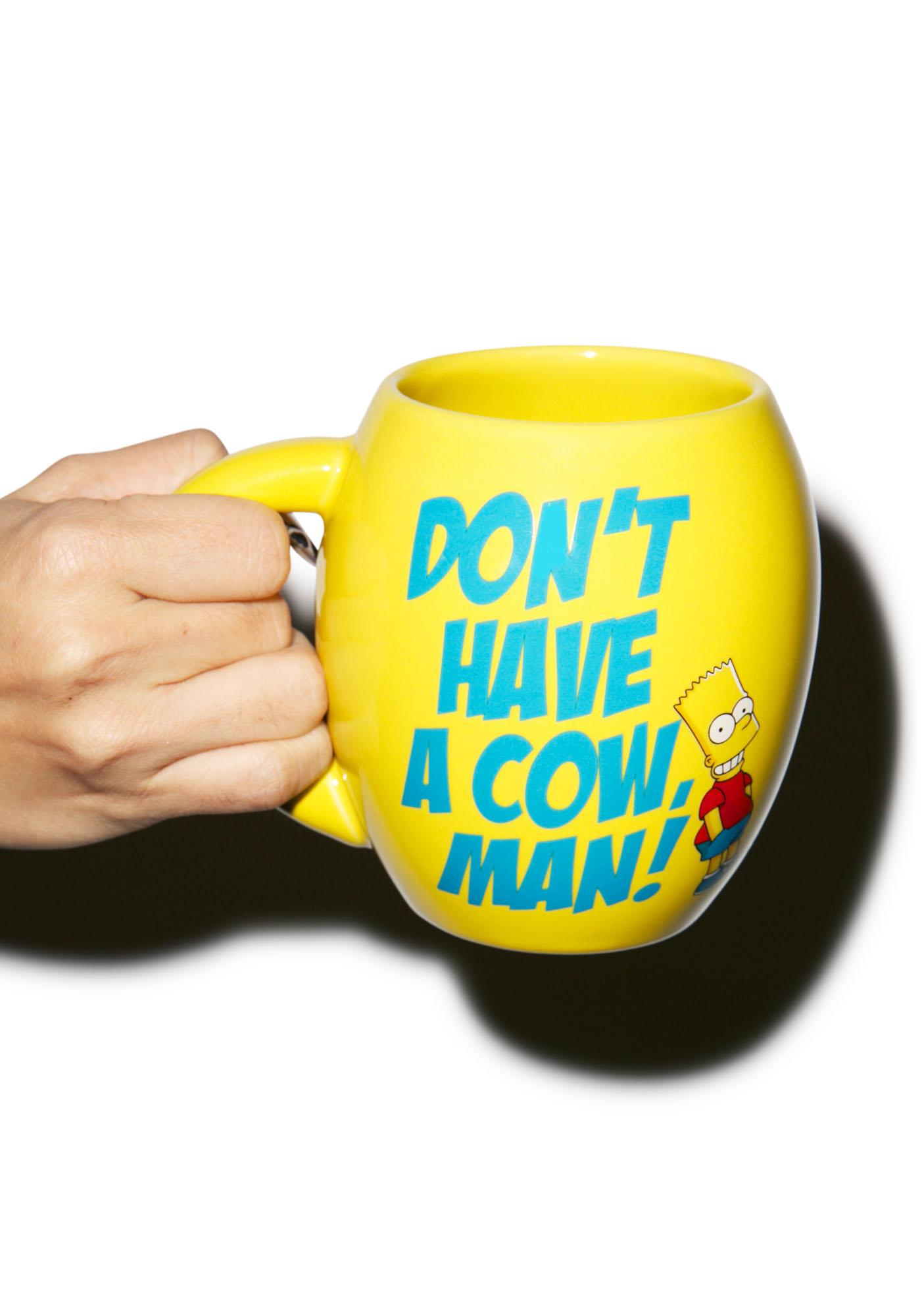 The Simpsons Oval Ceramic Mug