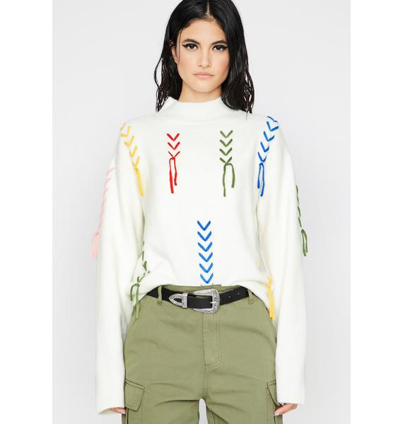 Vanilla High Strung Knit Sweater