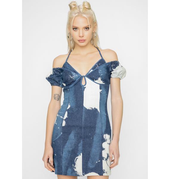 I AM GIA Blue Despina Denim Mini Dress