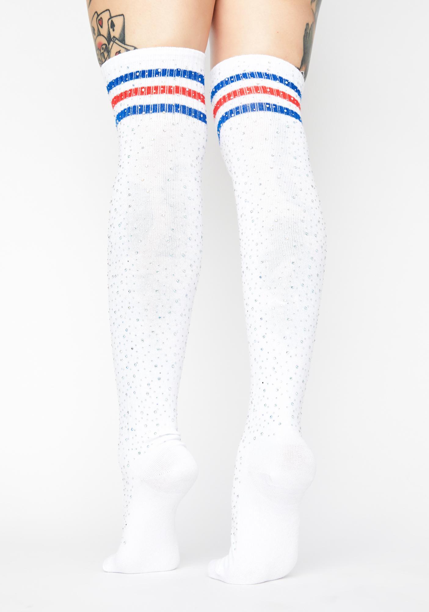 Royal Cosmic Rivals Thigh High Socks