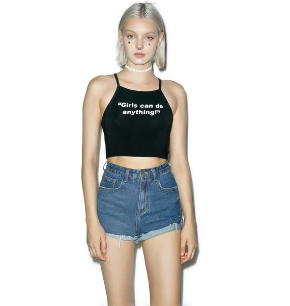 O Mighty Girls Can Do Anything Crop Tank