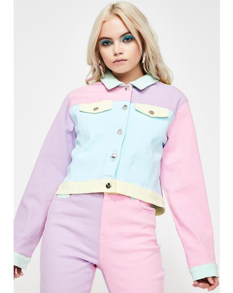 Pretty In Pastel Denim Jacket
