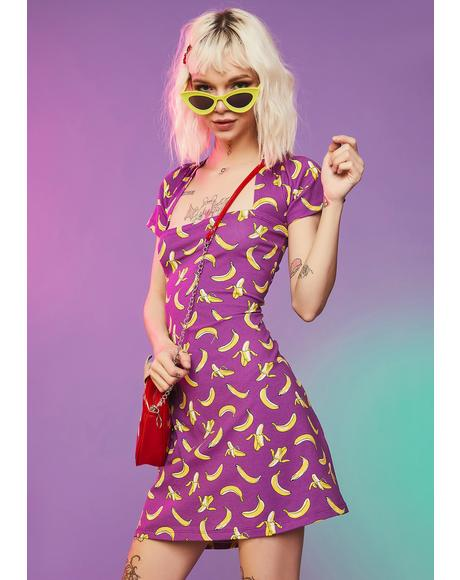 Gone Bananas Mini Dress
