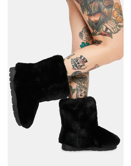 Don't Bother Me Faux Fur Boots
