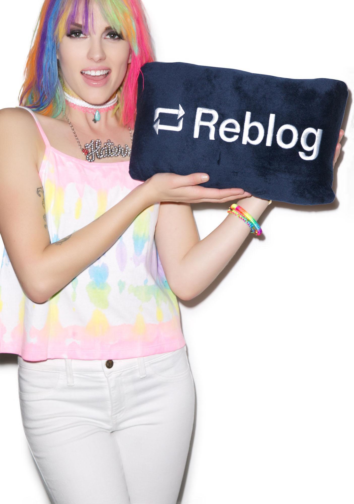 Reblog Button Pillow