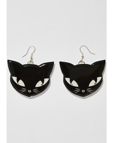 Light Up Cat Earrings