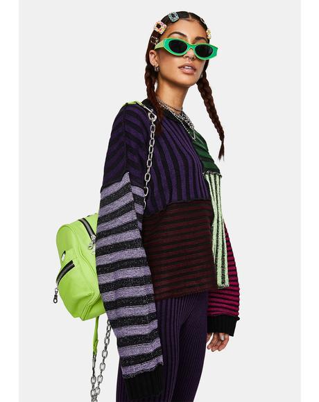 Klutz Striped Knit Sweater