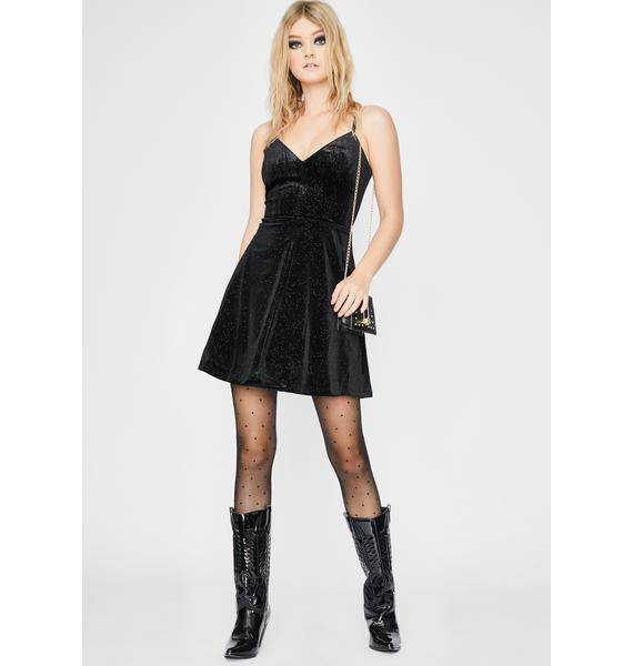 Cosmopolitan x Dress the Population Black Trista Mini Dress