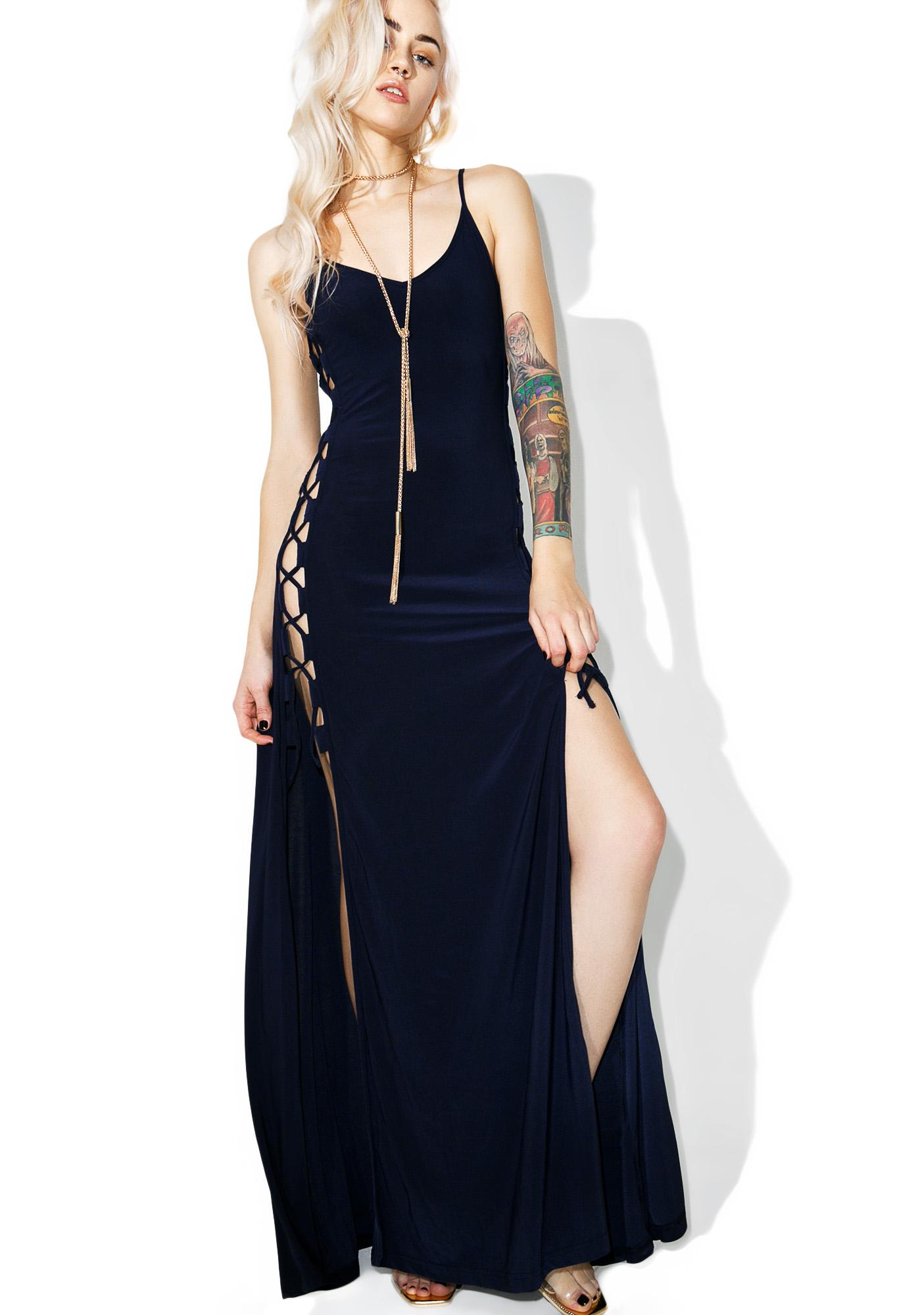Glamorous Side Maxi Dress