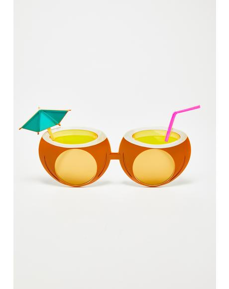 Pina Colada Coconut Sunglasses