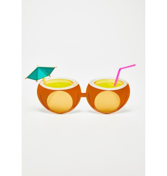 Pina Colada Coconut Sunglasses