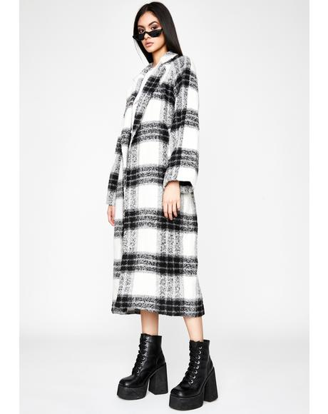 Ivy League Habits Plaid Coat