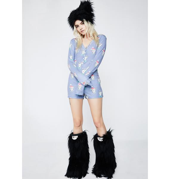 Wildfox Couture Reindeer V Neck Onesie
