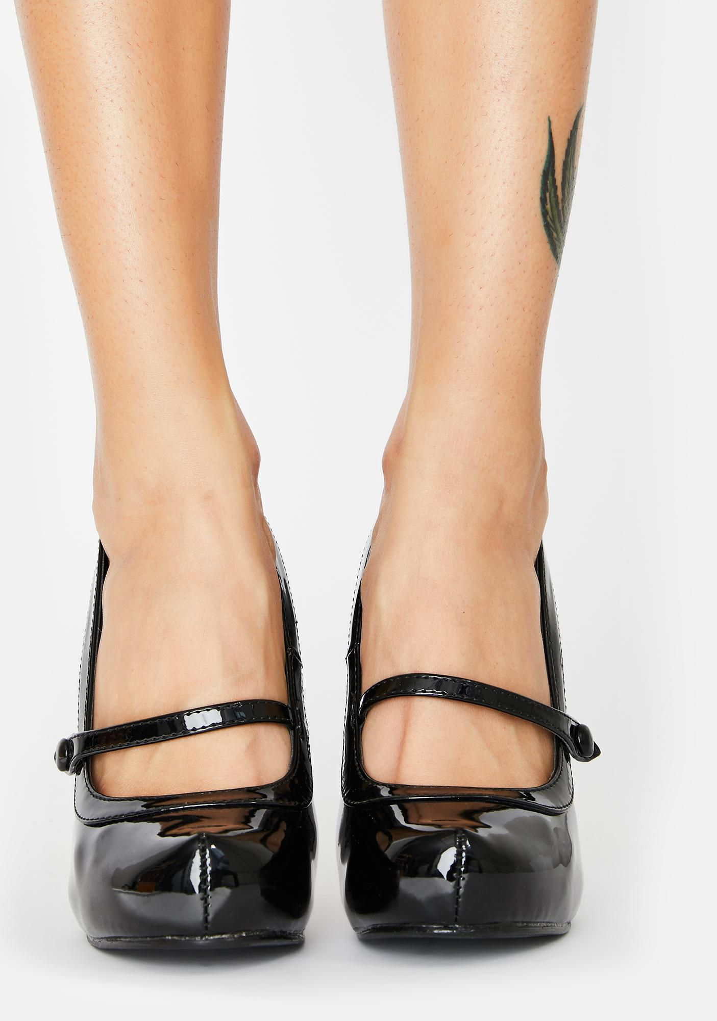 Pin Up Couture Cutie Pie Patent Heels