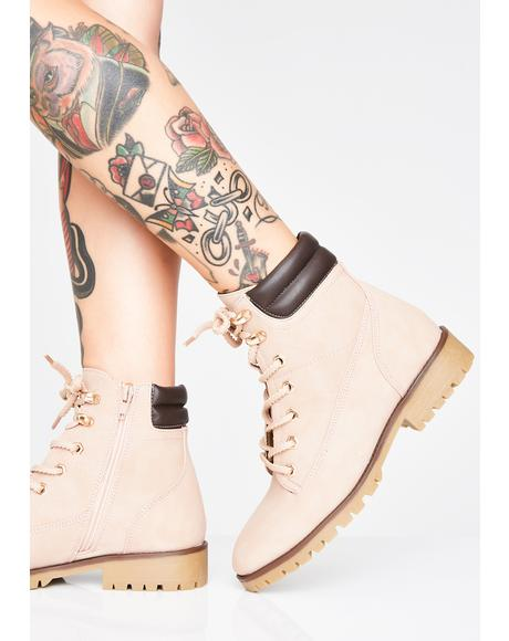 Blush Busy Dayz Work Boots