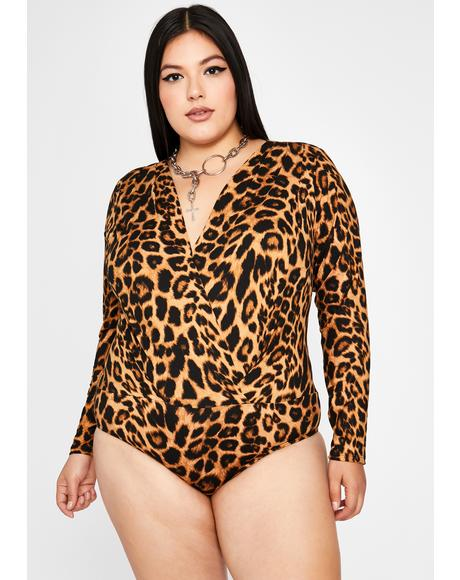 Can't Cross Me Leopard Bodysuit