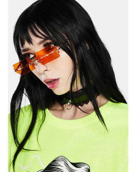 Amber Lethal Razor Blade Sunglasses