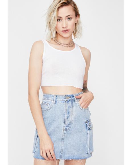 Just Chillin' Denim Skirt