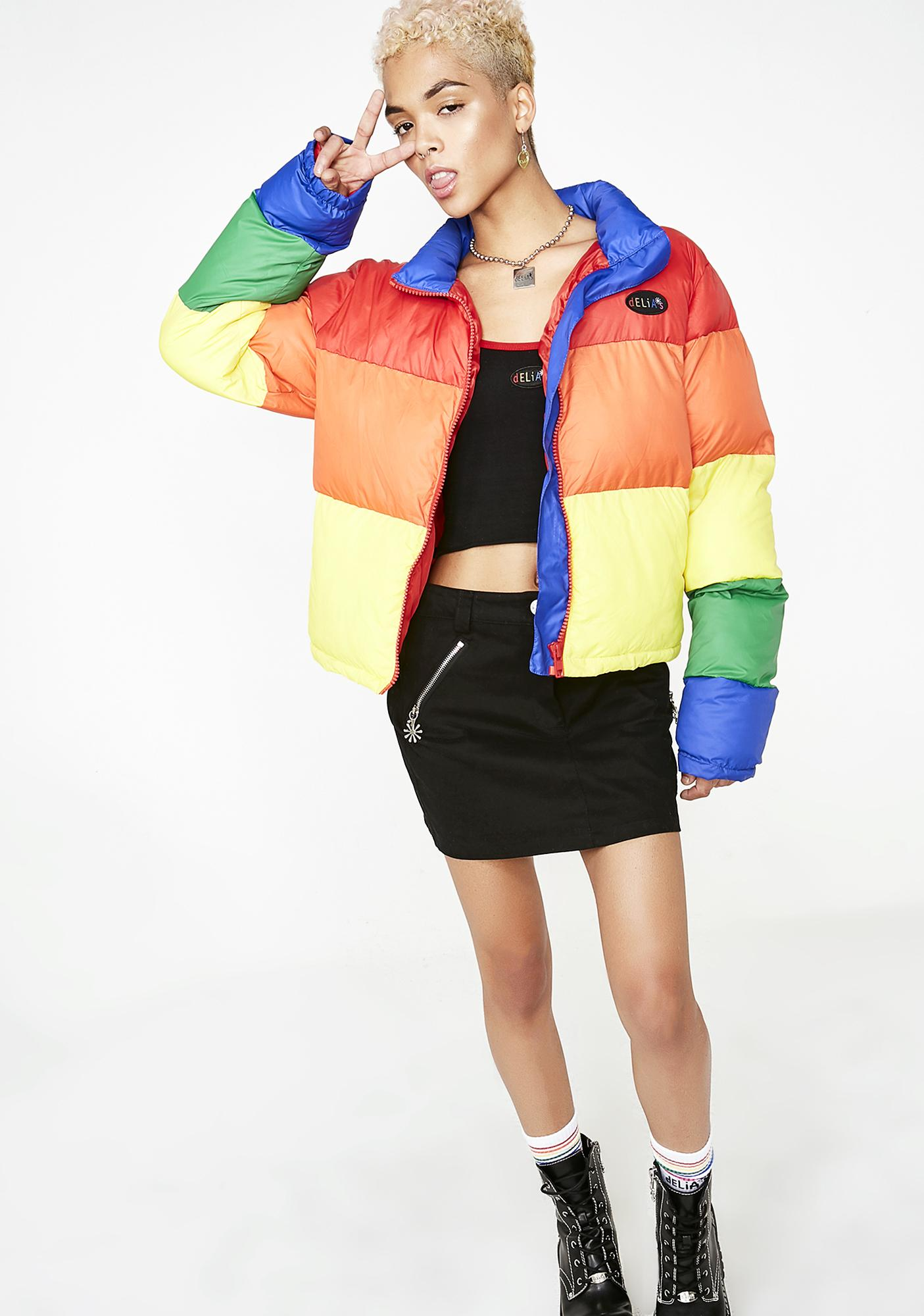 dELiA*s by Dolls Kill New Babe On The Block Puffer Jacket