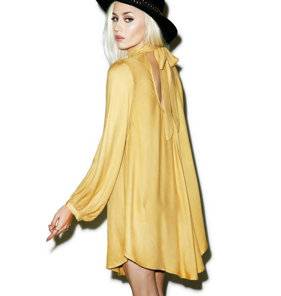Sugarhigh + Lovestoned Goldenrod Marianne Faithful Dress