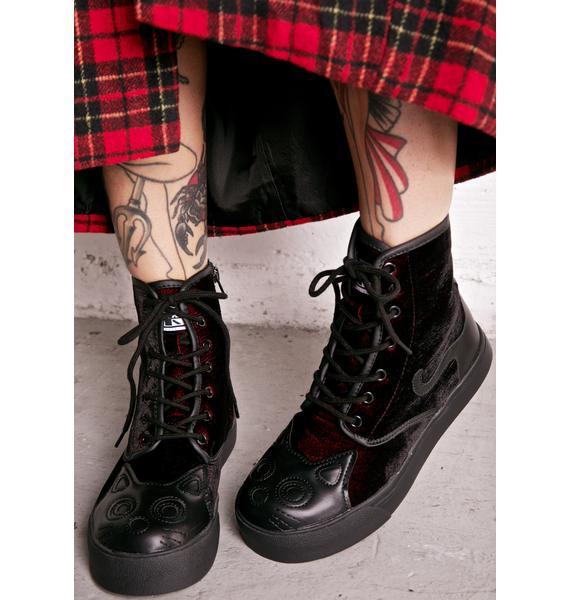 T.U.K. Velvet Kitty Boots