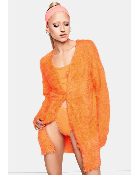 Juicy Fab Life Fuzzy Cardigan
