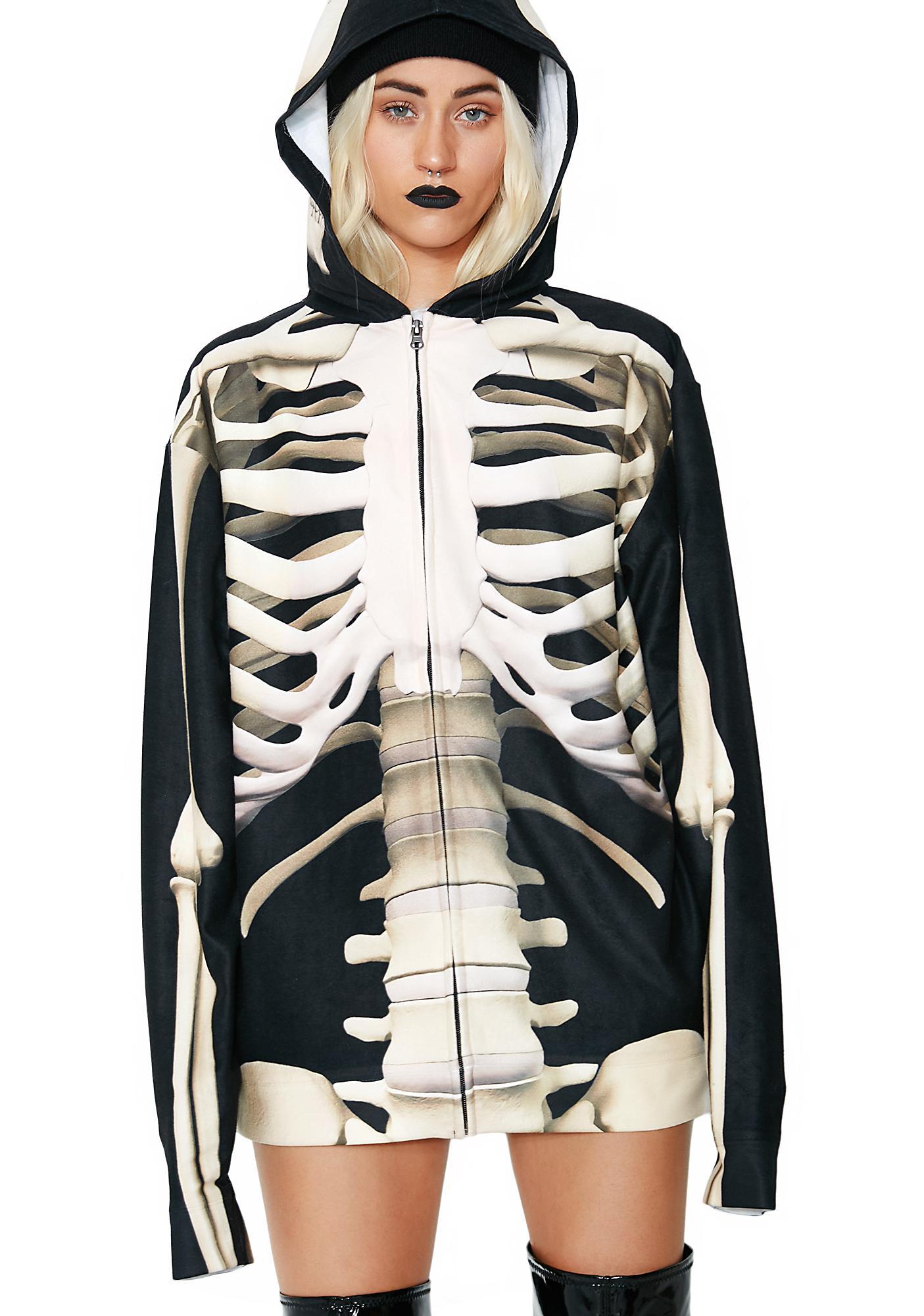 X-Ray Vision Skeleton Hoodie
