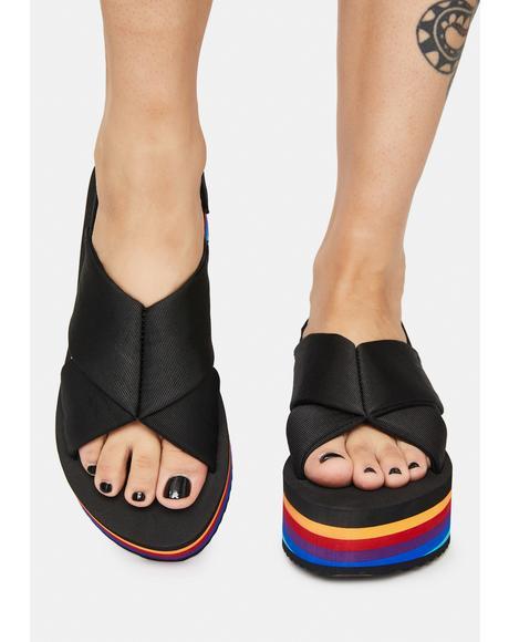 Hanalei Rainbow Platform Sandals