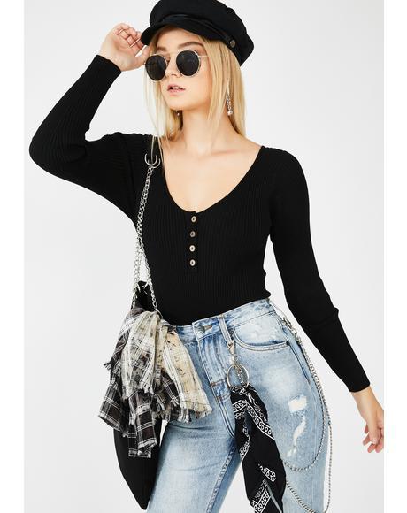 Black Ryder Knit Bodysuit