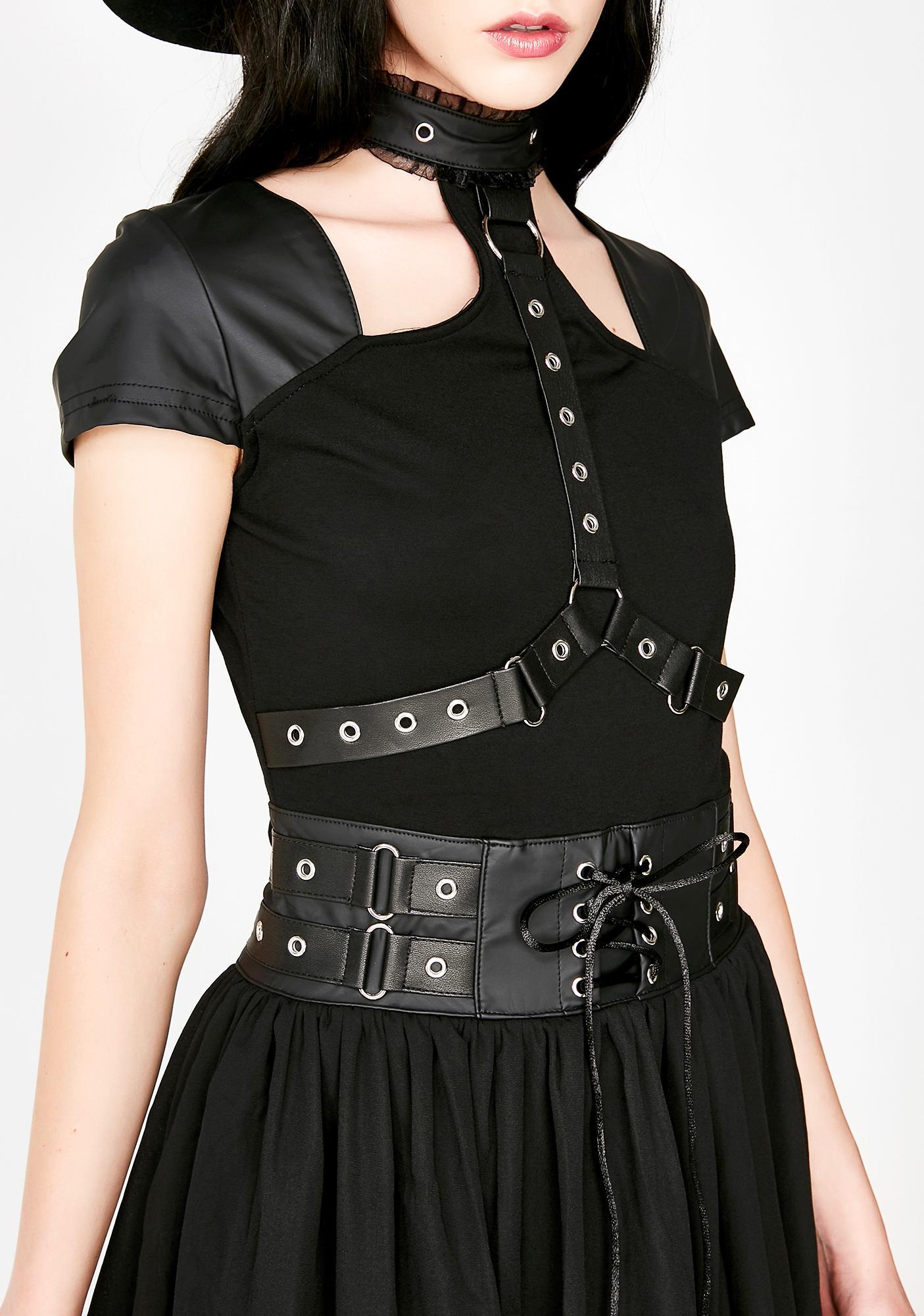 Killstar Midnight Muse Harness Dress