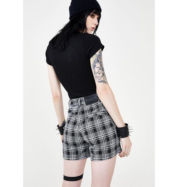 Disturbia Suspense Plaid Shorts