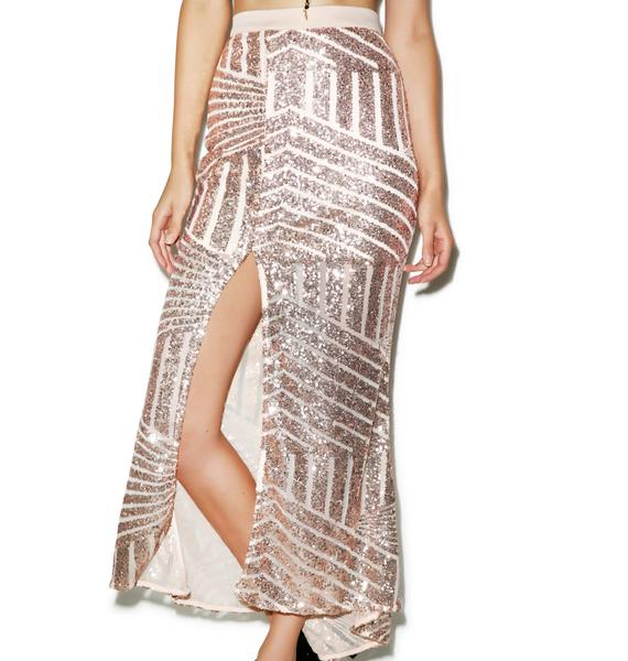 Tiger Mist Girl Around Town Sequin Skirt