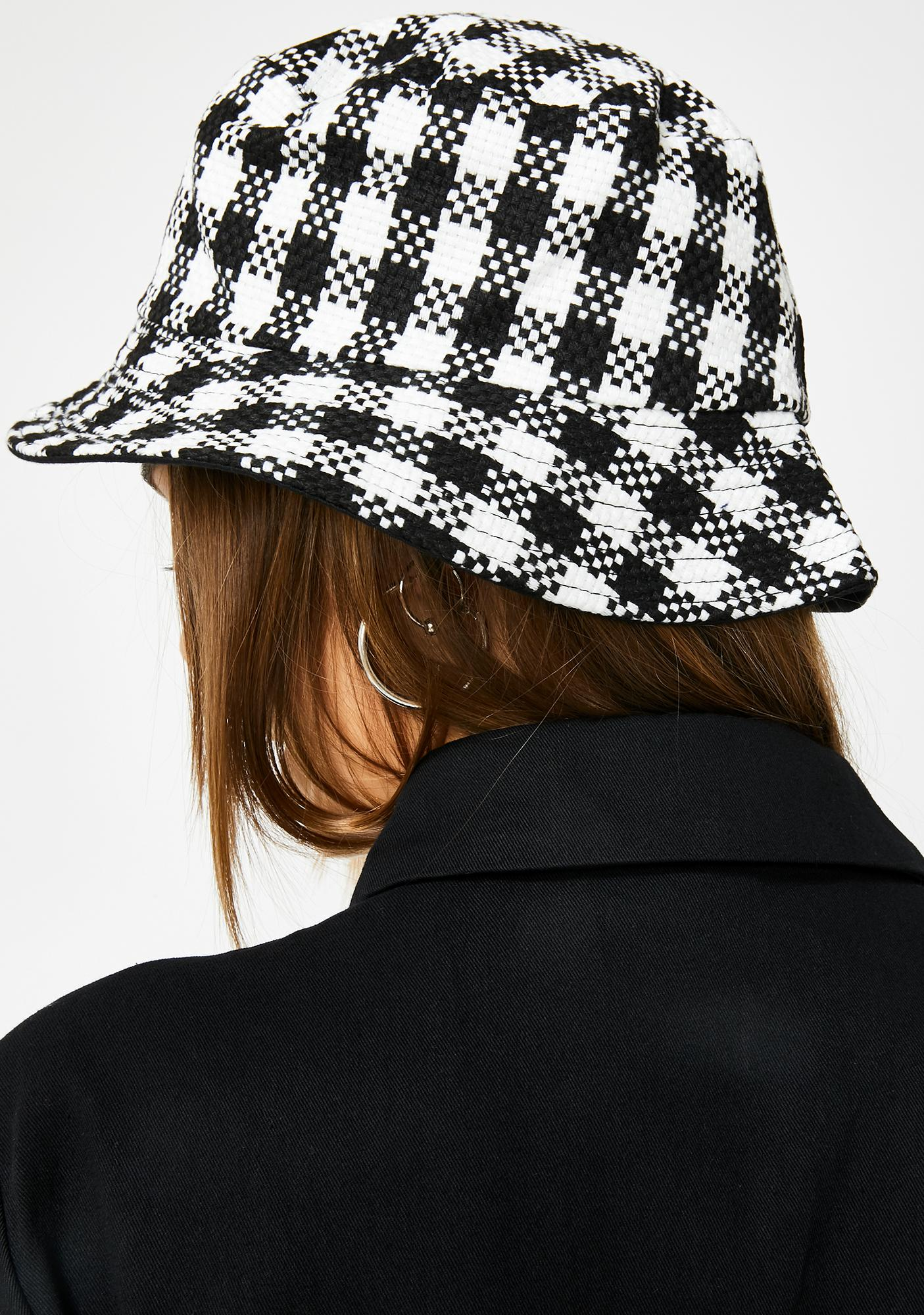 Check The Fit Gingham Bucket Hat