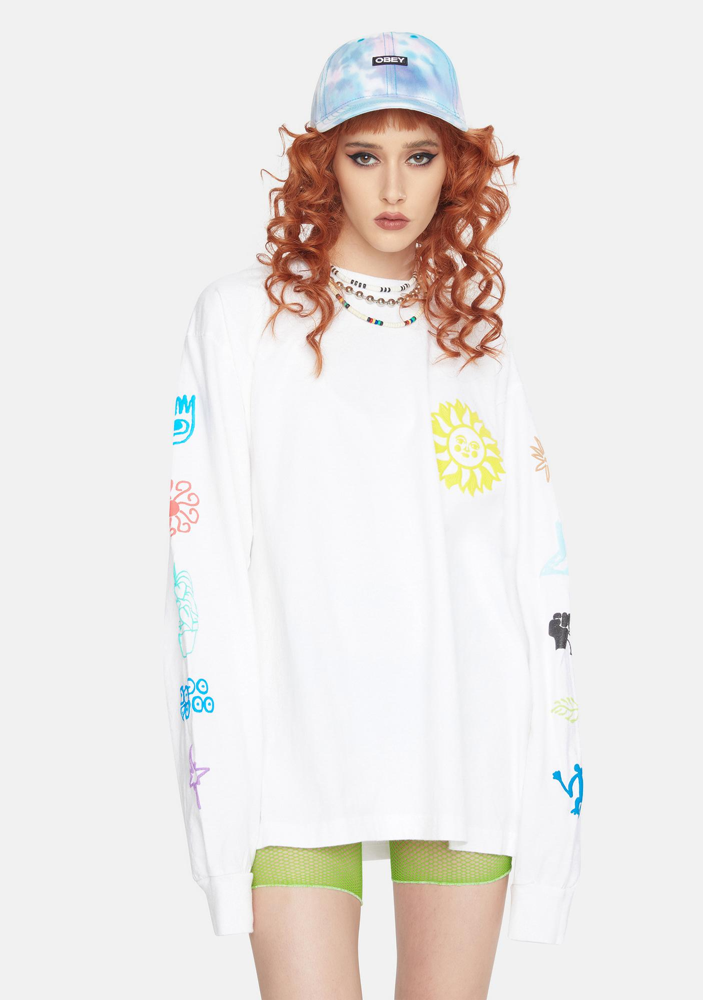 Obey Peace Justice Equality Graphic Tee