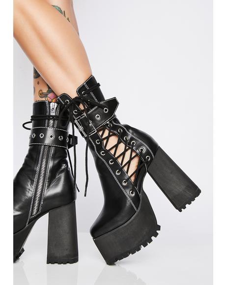 Born Killer Platform Boots
