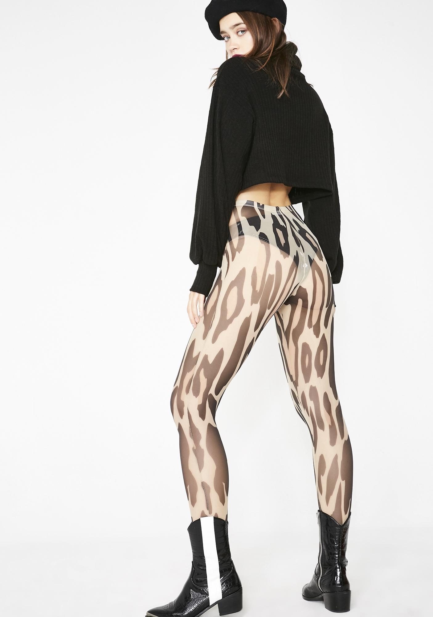 Kiki Riki Huntress Henny Leopard Tights