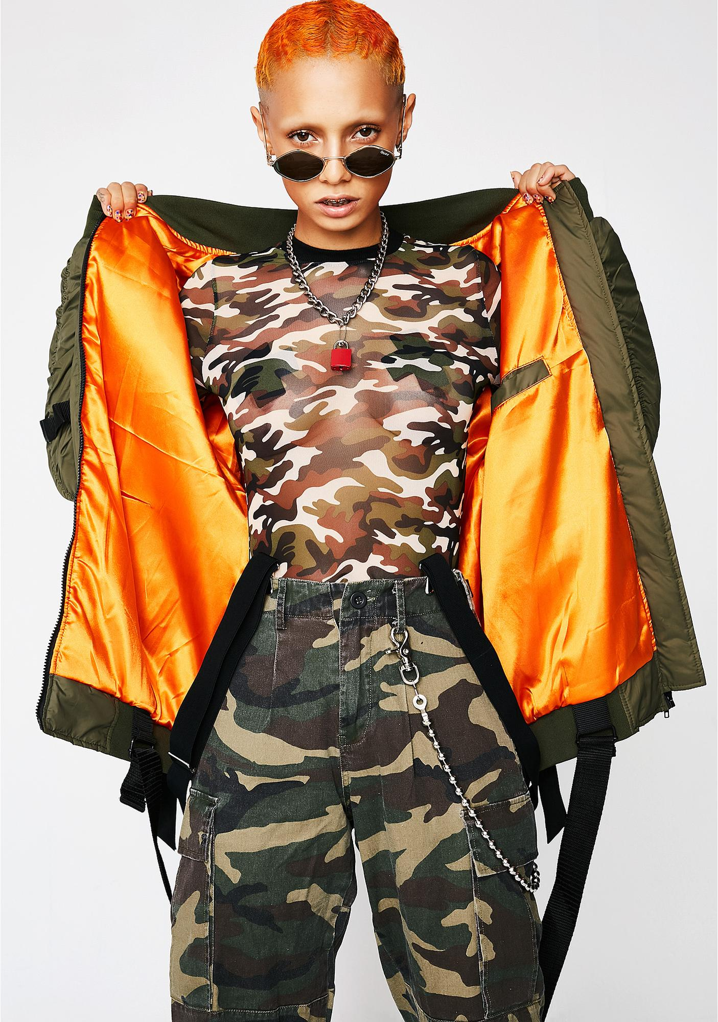 Poster Grl Takin' Off Bomber Jacket